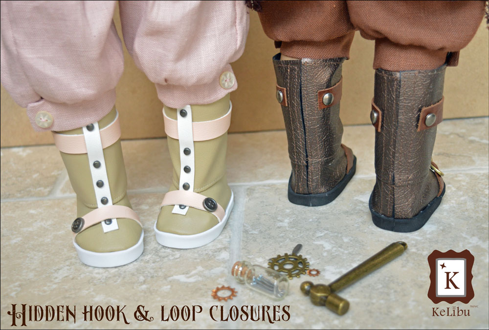 steampunk boots for 18 inch dolls