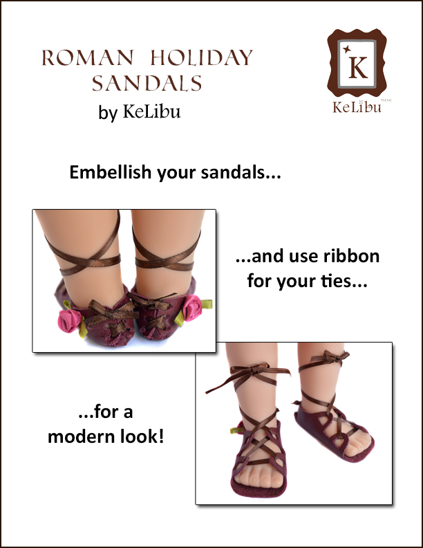 no sew sandals for Maplelea