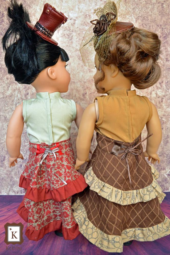 bustle skirt for 18 inch dolls