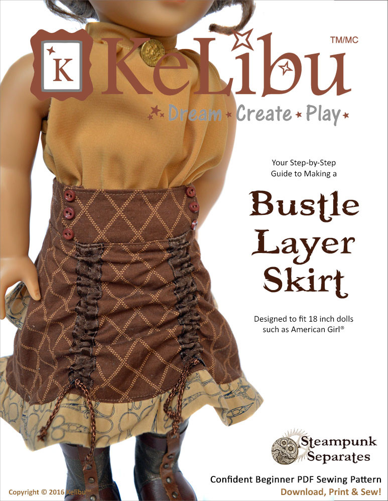 steampunk skirt for 18 inch dolls
