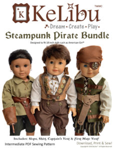 pirate outfit for 18 inch dolls