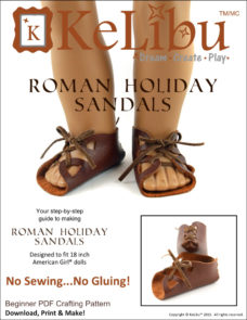no sew no glue sandals for 18 inch dolls