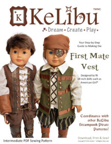 pirate vest for 18 inch dolls