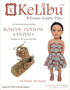 no sew sandals for Journey Girls dolls
