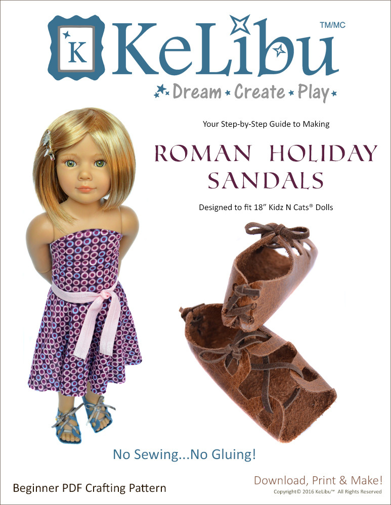 no sew sandals for Kidz N Cats dolls