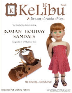 no sew sandals for Maplelea dolls