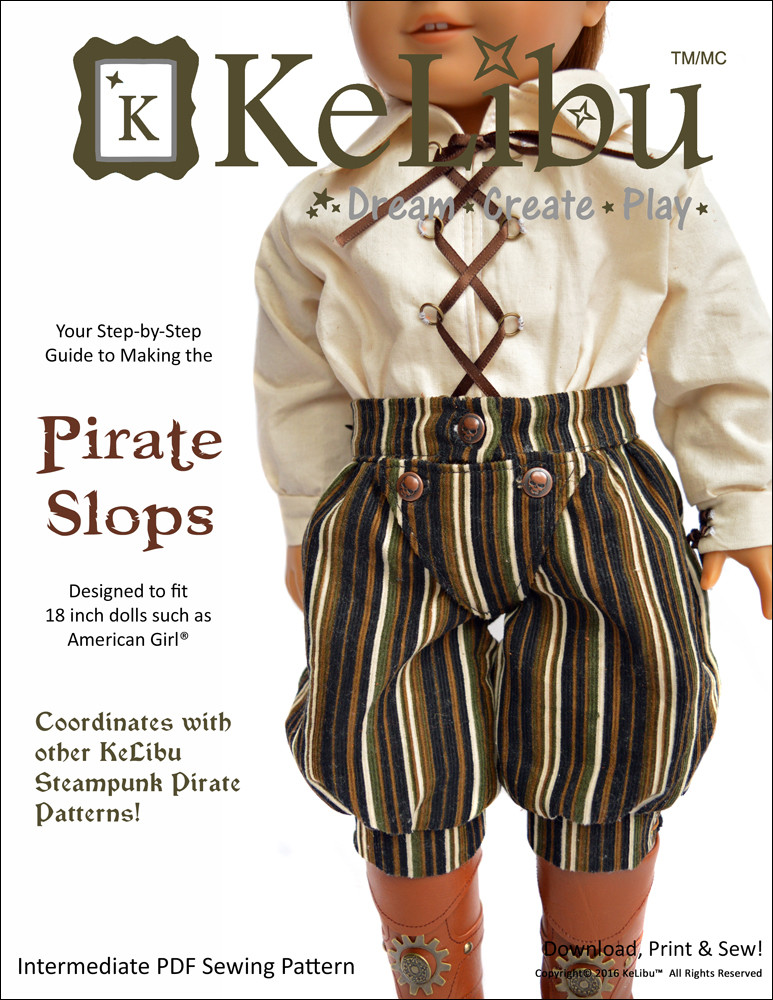 pirate pants for 18 inch dolls