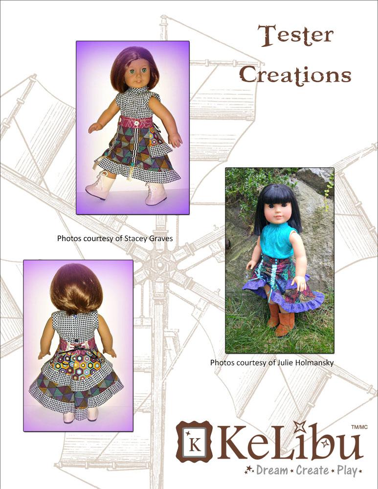 steampunk skirt 18 inch dolls