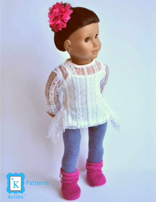 tunic shirt for 18 inch dolls