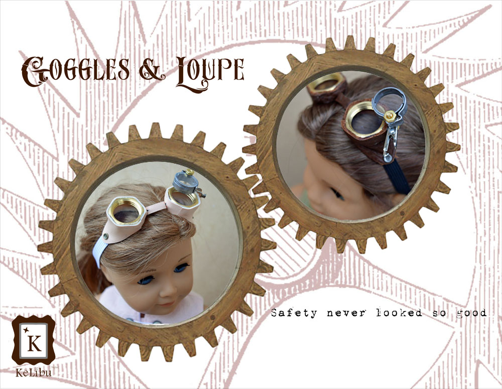 Steampunk googles for 18 inch dolls