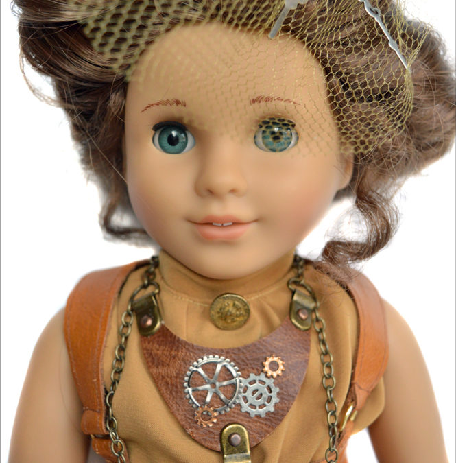 Make a Steampunk Necklace for your 18 inch doll!