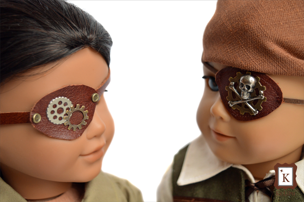pirate eye patch for 18 inch dolls