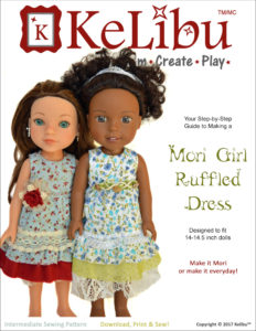 Mori Girl Ruffled Dress for 14-14.5 inch dolls