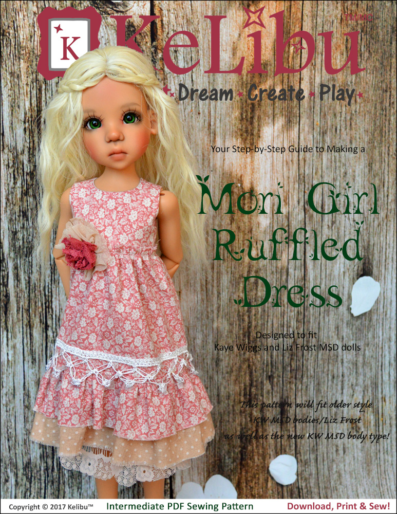 Mori Girl dress pattern for Kaye Wiggs MSD
