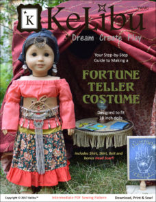 KeLibu Fortune Teller Costume pattern for 18 inch dolls
