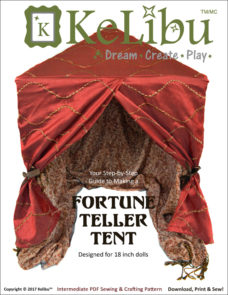 KeLibu Fortune Teller Tent pattern for 18 inch dolls