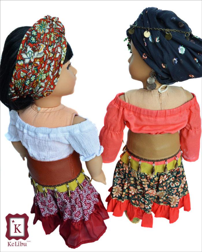 KeLibu Fortune Teller Costume pattern for 18 inch dolls