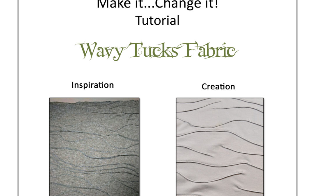Create textured knit fabric with the Wavy Tucks Tutorial