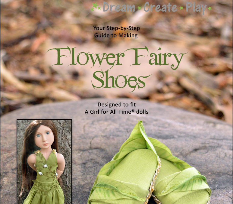 Flower Fairy Shoes designed to fit A Girl for All Time® dolls