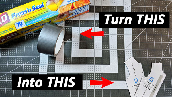 DIY Make Patterns with Duct Tape!