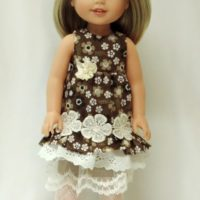 Mori Girl ruffled dress for W Wishers