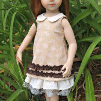 Mori Girl Collared Dress for Maru