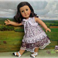 Ruffled Mori Girl Dress with Shrug