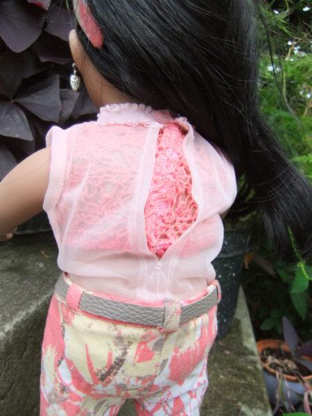 High neck blouse-chiffon-back