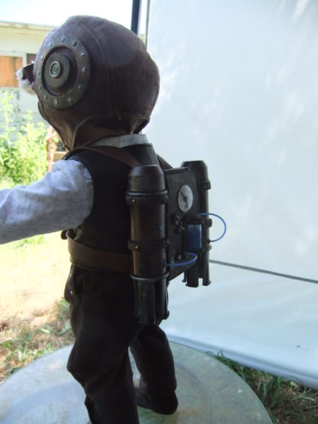 Steampunk Aviator Costume with jet pack-back