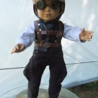 Steampunk Aviator Costume with jet pack-front
